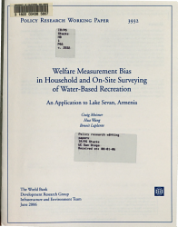 Welfare Measurement Bias in Household and On site Surveying of Water based Recreation PDF