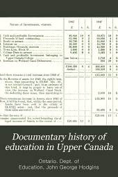Documentary History of Education in Upper Canada: Volume 8