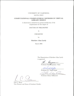 Computational Combinatorial Methods in Virtual Library Design PDF