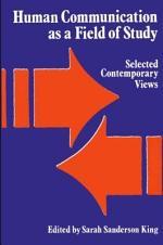 Human Communication as a Field of Study