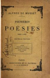 Premières poésies--1829-1835