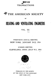 Transactions of the American Society of Heating and Ventilating Engineers: Volume 20