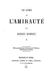 Le Lord de l'Amirauté: Volume2