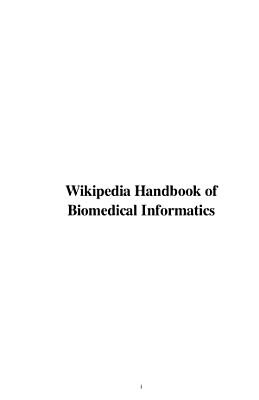 Wikipedia Handbook of Biomedical Informatics