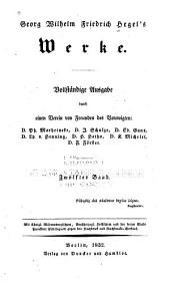 Georg Wilhelm Friedrich Hegel's Werke: Band 12