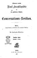 Allgemeine deutsche Real Encyklop  die f  r die gebildeten St  nde Conversations Lexikon PDF