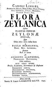 Caroli Linnæi ... Flora Zeylanica: sistens plantas indicas Zeylonæ insulæ; quæ olim 1670-1677
