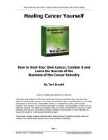 Healing Cancer Yourself PDF