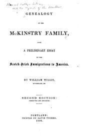 Genealogy of the Mckinstry Family: With a Preliminary Essay on the Scotch-Irish Immigrations to America