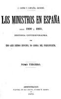 Los ministros en Espa  a desde 1800    1869 PDF