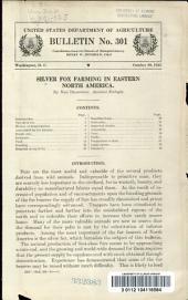 Silver fox farming in eastern North America