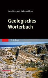 Geologisches Wörterbuch: Ausgabe 12