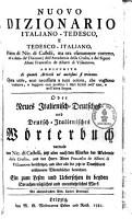Nuovo dizionario italiano tedesco  et tedesco italiano0 PDF