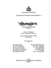 Vijayanagara  Progress of Research PDF