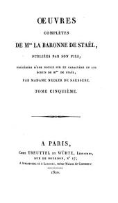 Oeuvres complètes: Delphine, 1, Volume5