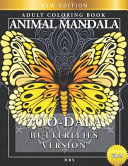 Zoo Dala Butterflies Version Vol 29  Animal Mandala  Adult Coloring Book PDF