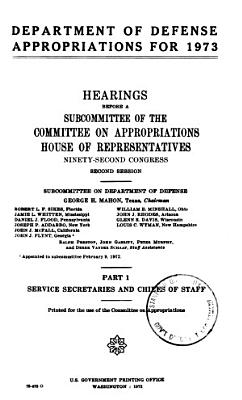 Department of Defense Appropriations for 1973 PDF