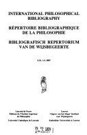 Bibliografisch Repertorium Van de Wijsbegeerte PDF