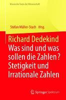 Richard Dedekind PDF