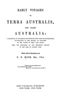 Early Voyages to Terra Australis PDF