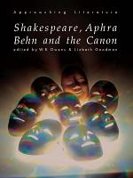Shakespeare, Aphra Behn and the Canon