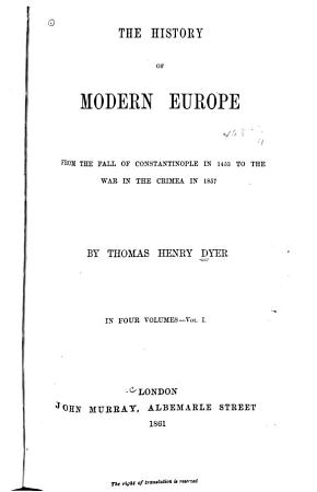The History of Modern Europe from the Fall of Constantinople PDF