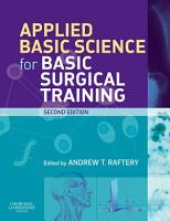 Applied Basic Science for Basic Surgical Training E Book PDF