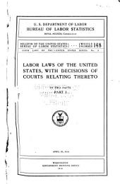 Labor laws of the United States series: Issue 3, Part 1