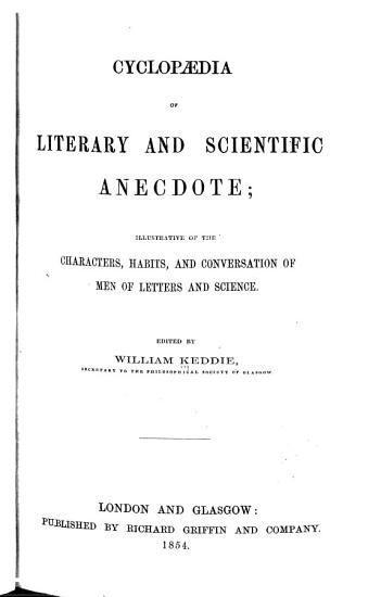 Cyclop  dia of Literary and Scientific Anecdote PDF