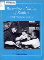 Becoming a Nation of Readers PDF