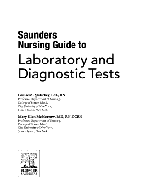Saunders Nursing Guide to Laboratory and Diagnostic Tests PDF