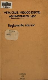 Reglamento interior de la H. interior del estado de Veracruz-Llave
