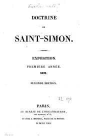 Doctrine de Saint-Simon: exposition : 1ère année, 1829