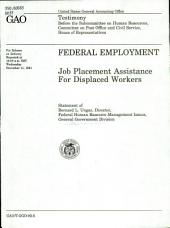 Federal employment: job placement assistance for displaced workers