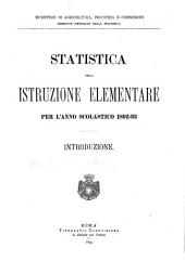 Statistica dell'istruzione elementare