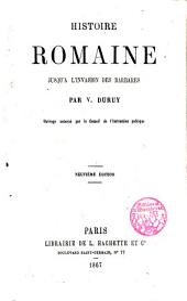 Histoire romaine jusqu'à l'invasion des barbares