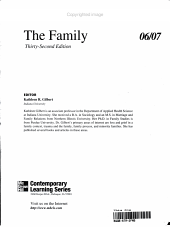 Annual Editions  the Family PDF