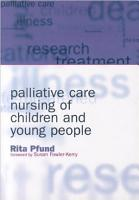 Palliative Care Nursing of Children and Young People PDF