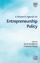 A Research Agenda for Entrepreneurship Policy PDF