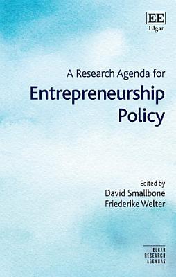 A Research Agenda for Entrepreneurship Policy