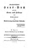 Katholisches Hausbuch auf alle Sonn  und Festtage des Kirchenjahres PDF