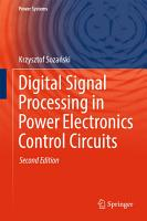 Digital Signal Processing in Power Electronics Control Circuits PDF