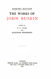 The works of John Ruskin