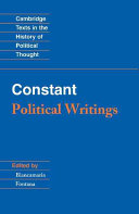 Constant  Political Writings PDF