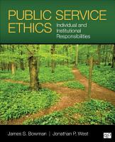 Public Service Ethics PDF
