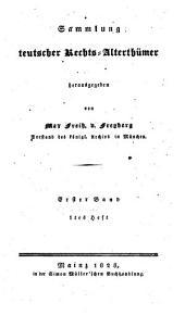 Sammlung deutscher Rechtsalterthümer