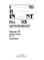 Paperbound Books in Print Fall 1995 PDF