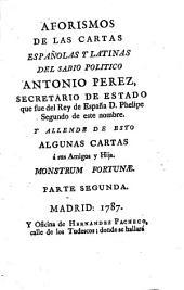 Aforismos de las cartas españolas y latinas