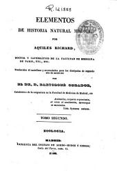 Elementos de historia natural médica: traducido al castellano y acomodados para los discípulos de segundo año de medicina ; por Bartolomé Obrador. Zoología, Volumen 2