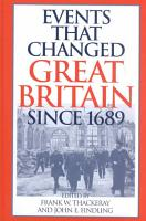 Events that Changed Great Britain Since 1689 PDF
